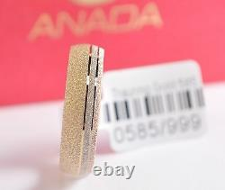 1 Wedding Ring Gold 585 Tricolor Width 5mm Top