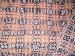 131 Vintage Double Sided Welsh Wool Tapestry Blanket