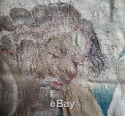 17th CENTURY LARGE FLEMISH TAPESTRY ANTIQUE HISTORICAL MILITARY THEME 10 x 8.5