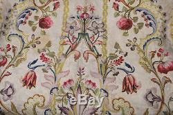 17th Century Silk Embroidered Chasuble Back Ecclesiastical Religious Flowers