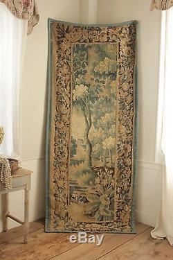 18th century Aubusson tapestry wall hanging 1700's French