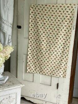18th century French dress fabric material old cotton hand block printed calico