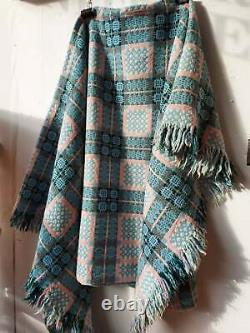 1950's Double Sided hand Woven Welsh Tapestry Blanket. Vintage/ThrowithFolk Craft