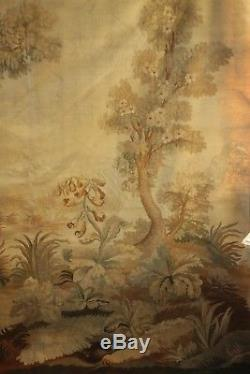 19th century Aubusson tapestry 82X82 LARGE tapestry textile French woven