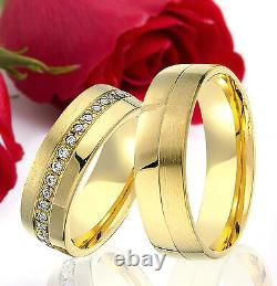 2 SILVER Partner Ring Wedding Rings Bands Free Engraving GOLD plated T333