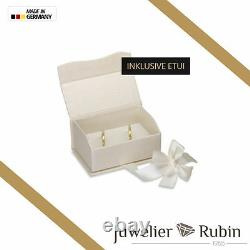 2 x 585 Wedding rings in Yellow-gold White-gold PRICE FOR ONE PAIR 14 Carat
