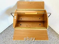50s Danish Sewing Table Cart Original Mid Century Knitting Vintage Buttons 60s