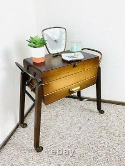50s Sewing Table Sewing Cart Original Mid Century Knitting Storage Vintage 60s
