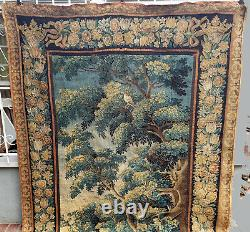 A Good 18th Century Verdure Tapestry with Birds & Squirrel