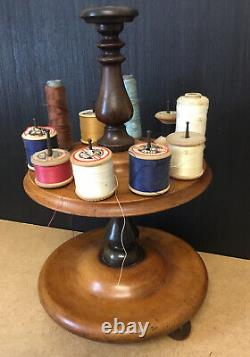 A Very Nice 19th Century Antique Cotton Reel Holder Stand