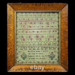 Antique 18th century fine quality sampler by Mary Heath dated 1789