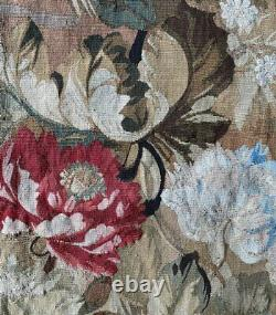 Antique 19th c. French Aubusson, Gobelin Wall Hanging 67 x 66 Tapestry, Floral