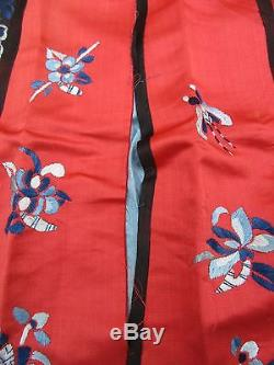 Antique Chinese Silk Embroidered Wedding Apron Skirt