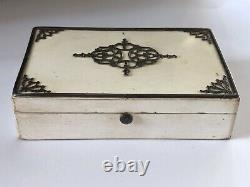 Antique Circa 1850s French Lacquered Sewing Box Etui For A Child With Contents