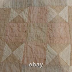 Antique Early 1800s/1900s Triangle Quilt 68 x 78