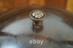 Antique Early American Style Walnut Yarn Bowl Stand Dispenser Sewing Knitting
