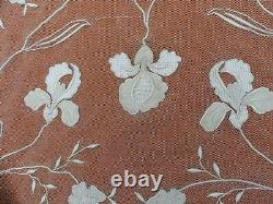 Antique French Tambour lace net lace /canopy bed top cover 108 x 99