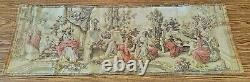 Antique French Tapestry Aubusson Jacquard 54 x 17 Greco-Roman Day Scene