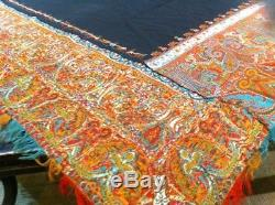 Antique Kashmir Paisley Shawl, Kani-Style with Signature, 19th C (65 X 65) WOW
