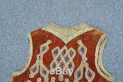 Antique Ottoman Turkish Metallic Thread Embroidery Embroidered Yelek Vest Gypsy