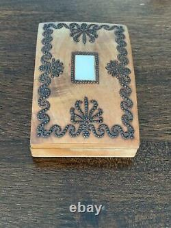 Antique Palais Royal French Sewing Necessaire/Box Fantastic Pin Work