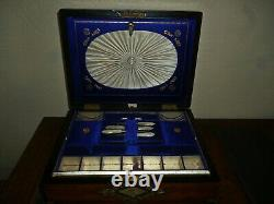 Antique Sewing Box, with vintage sewing items Free Uk Postage
