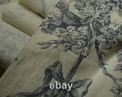 Antique Toile French Fabric C. 1900 Incredible Condition! Tt468