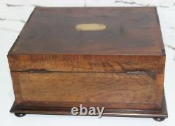 Antique Victorian Rosewood Jewellery Sewing Box FREE Shipping PL3892