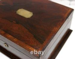 Antique Victorian Rosewood Jewellery Sewing Box FREE Shipping PL3892 R