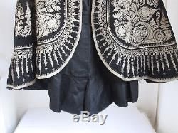 Antique Victorian Spanish Matador's Cape or Jacket Ornate Silver Embroidery