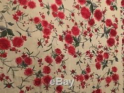 Antique Vintage Chinese Canton Silk Spanish Piano Shawl Embroidery