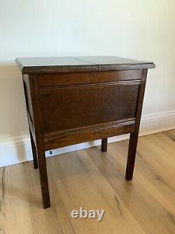 Antique wooden sewing box Table