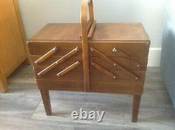 As Strommen Bruk Hamar Vintage Fold-out Sewing Boxmade In Norway
