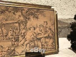 Beautiful Large 4 Ft Antique French Tapestry Framed Classical Wall Art Excellent