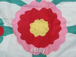 Beautiful, Very Striking, ANTIQUE APPLIQUE QUILT TOP, 1800's, Crafts, GIFT
