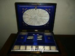 Collectible Antique Sewing Box, with vintage sewing items