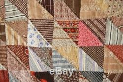 DAZZLING Vintage 1860's Birds in Flight Antique Quilt GORGEOUS EARLY FABRICS