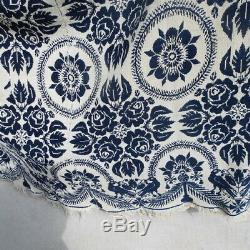 Dated 1852 Jaquard Coverlet / woven tapestry / Mathias Klein Montgomery Co Ohio