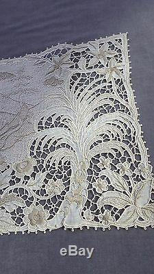 EXQUISITE MADEIRA Cutwork Embroidery Set Birds, Trees, Scenery, 13 Pieces