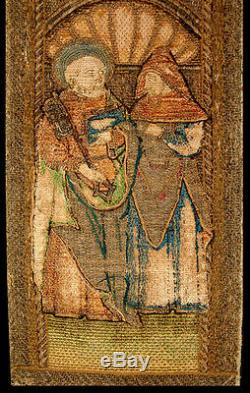 Early 17th Century European Gold Embroidery Fragment