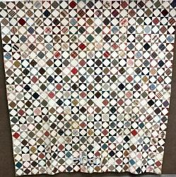 Early Fabric Sampler! C 1830-40s Star QUILT Antique Amazing Palette SPECIAL One