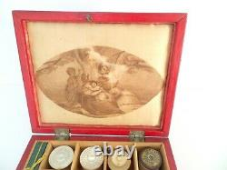 Early Victorian Child's Sewing Box With Provenance c1840