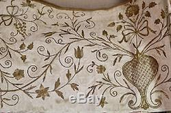 Ecclesiastical Gold Metallic Embroidered Altar Frontal 17th Century