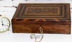 English Victorian Parquetry Sewing Box FREE Shipping PL3861