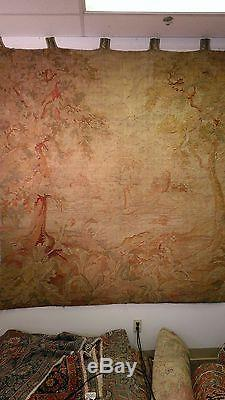 European Flemish Wool Tapestry 17th century, 7x8 feet