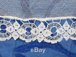 Exceptional ANTIQUE Victorian LACE Skirt 1800s Hand Made Embroidered Bobbin Lace