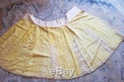 Fine Antique Chinese Satin Embroidered Skirt Dragon Flowers Butterflies Qing