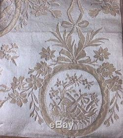 French 19thC Antique Lyon Silk Brocade FabricMarie Antoinette Style30LX22W