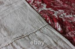 French Antique 18thC Quilted Toile De Jouy Bed PanelAnimals & People45LX60W