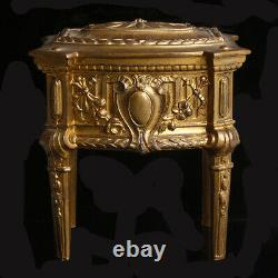 French Brass Ladies Sewing Box